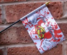 HAND WAVING FLAG (SMALL) - Just Married